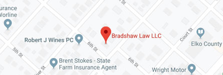 Bradshaw Law LLC 603 Pine St. Elko, NV 89801